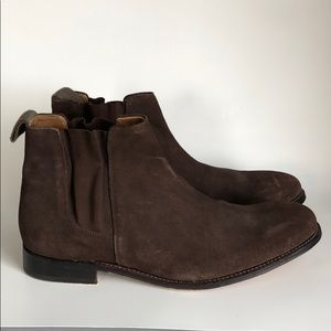 Grenson England brown suede boots